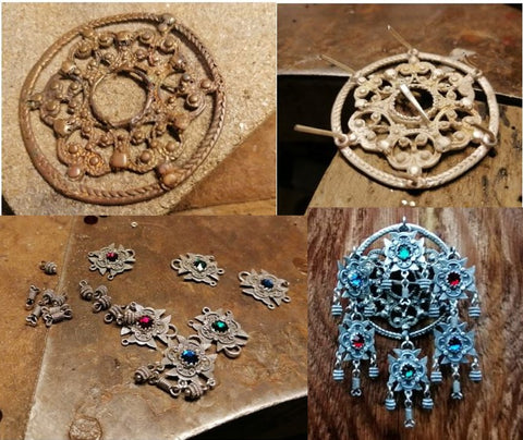 Ivar Brendemo restored a traditional brooch that was over 300 years old.