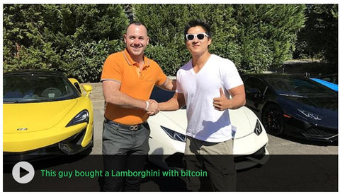 Buying a Lamborghini with Bitcoin