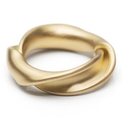 Leen Heyne - The Twist ring made from a single 750 (18K) gold strip.