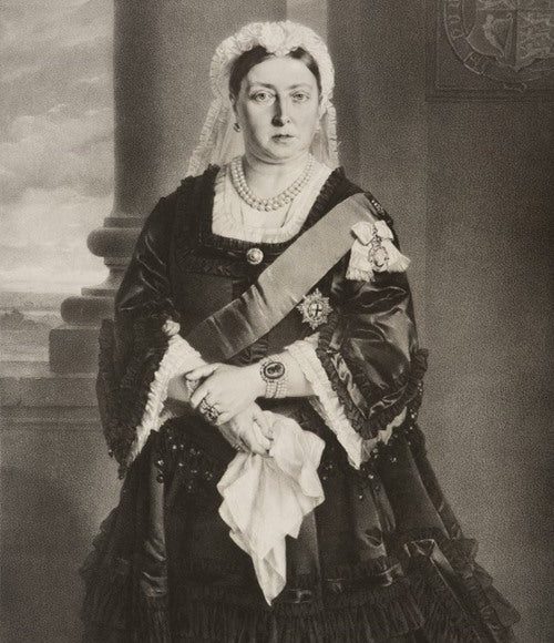Queen Victoria in 1875 - Painting at the Royal Palace. She remains influential with modern Goth style - Norwegian Jewelry Blog.
