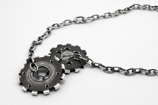 Gears by Sjür Jewelry: perhaps it's steampunk Goth - Norwegian Jewelry Blog