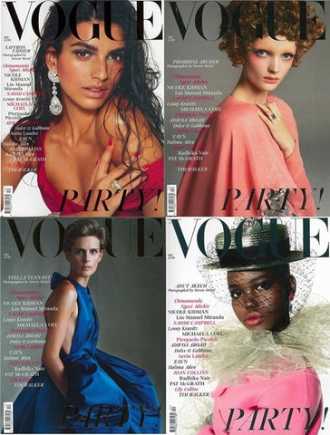 "The Vogue Magazine December 2018 UK edition, featuring the ring in their ""Party Edit,"" is a four-cover special edition, marking the one-year anniversary of Edward Enninful as editor-in-chief."