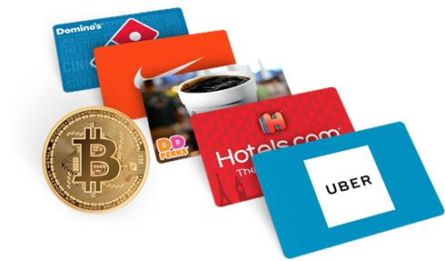 eGifter: Purchase gift cards with Bitcoin.