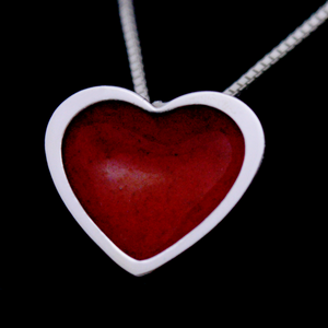 Heart Pendant by A+G Design in Kristiansand Norway - Norwegian Jewelry