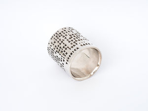 Sjür Jewelry features the Large Ring with Stamped Statement by Sjur Hassel of Metallstudio in Tromsø, Norway.  The statement is by Veronica Lake, an American actress famous in the 1940s.