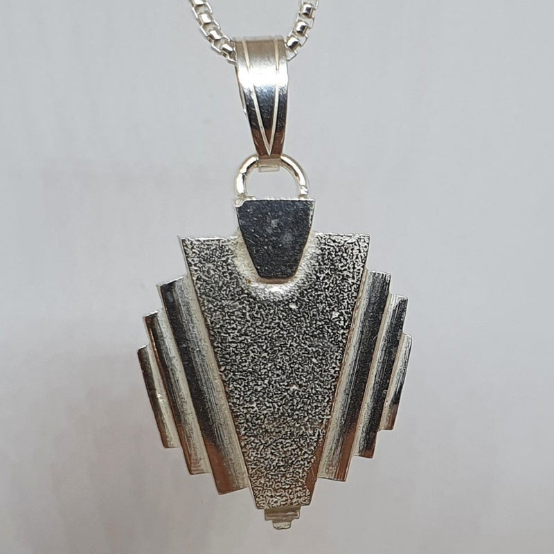 André Normann Art Deco Large Pendant | Norwegian Jewelry designer and goldsmith in Østfold, Norway