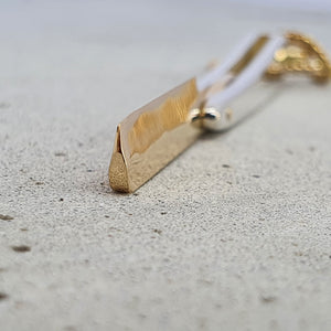 André Normann Straight Razor Pendant | Norwegian Jewelry designer and goldsmith in Østfold Norway