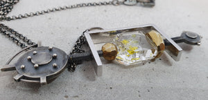 André Normann Under Pressure Statement Pendant | Norwegian Jewelry designer and goldsmith in Østfold Norway