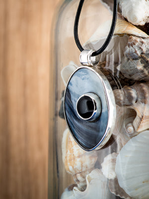 OCEAN'S EYE Necklace by Anette Skaugen Guldager - Norwegian Jewelry Designer in Telemark, Norway.