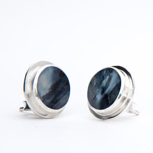 ORBIT earrings - ear studs by Anette Skaugen Guldager - Norwegian jewelry designer in Telemark, Norway.