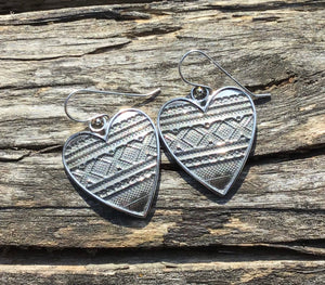 Heart with Marius Earrings by Linda Bredemo - Norwegian Jewelry.