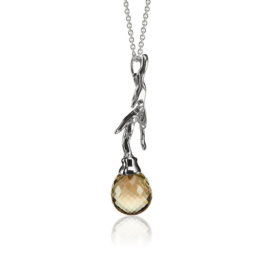 Branch Pendant with Prasiolite by Vido Jewels - a Norwegian jewelry designer in Oslo, Norway. Photo by Aliona Pazniakova.