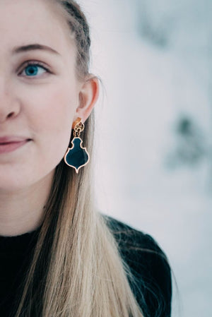 TUSENOGÈN LARGE EARRINGS WITH ENAMEL by Linn Sigrid Bratland - Norwegian Jewelry