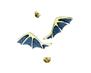 Dragon Wings Collection Earrings by Designer Vera Bublyk in Oslo Norway - Norwegian Jewelry