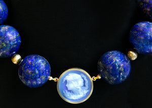 Expo Arte - Victorian Lapiz Lazuli Necklace Necklaces - Norwegian Jewelry features artisan jewellery designers and goldsmiths from Norway.