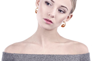 Linn Sigrid Bratland FUGL Small Earrings - Handmade Jewelry from Norway - Norwegian Jewelry.