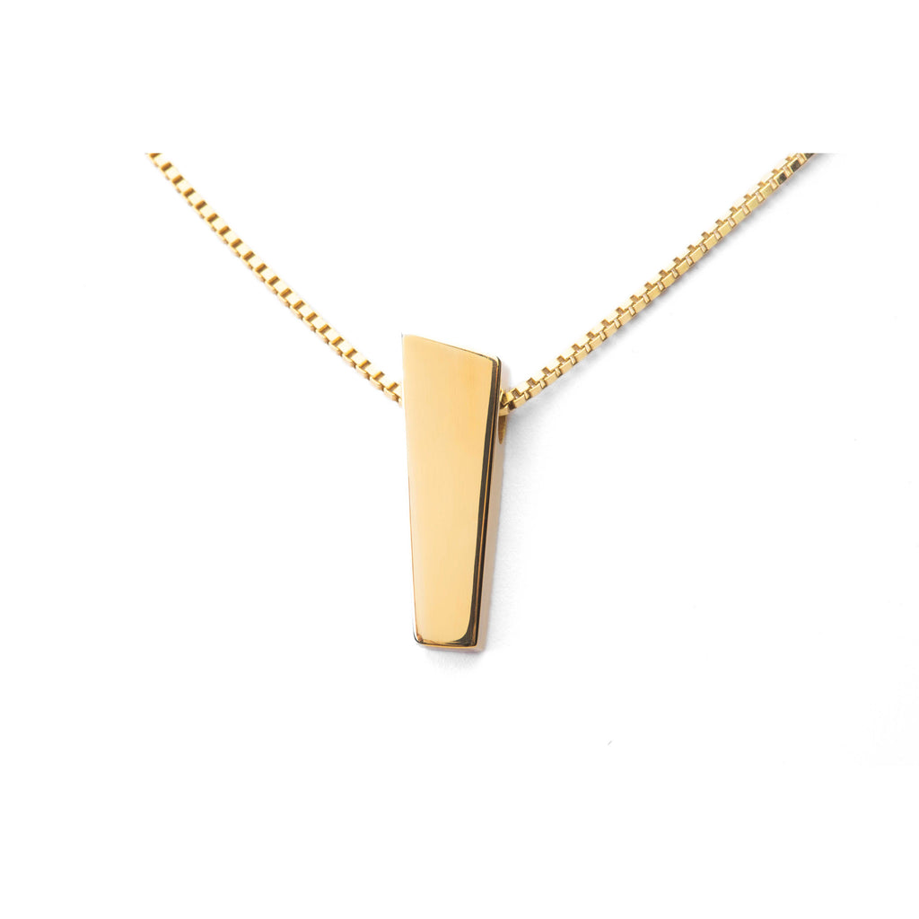 Ekenberg Scandinavia - Preikestolen (Pulpit Rock) 18K Gold Pendant 27mm Glossy - Norwegian Jewelry