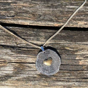 Tree Rings Heart Necklace by Ivar Brendemo - Norwegian Jewelry.