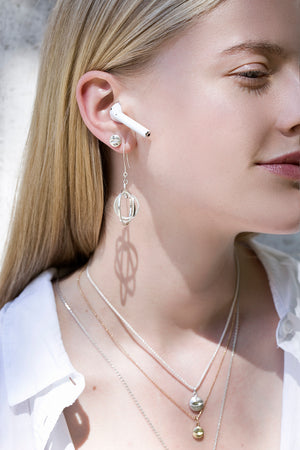 Undlien Design Medicus and Orbis earrings - Norwegian Jewelry