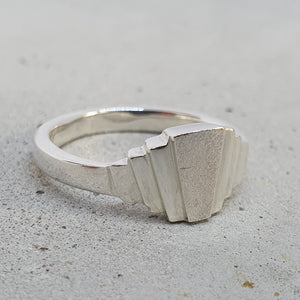André Normann Art Deco Ring | Norwegian Jewelry designer and goldsmith in Østfold, Norway