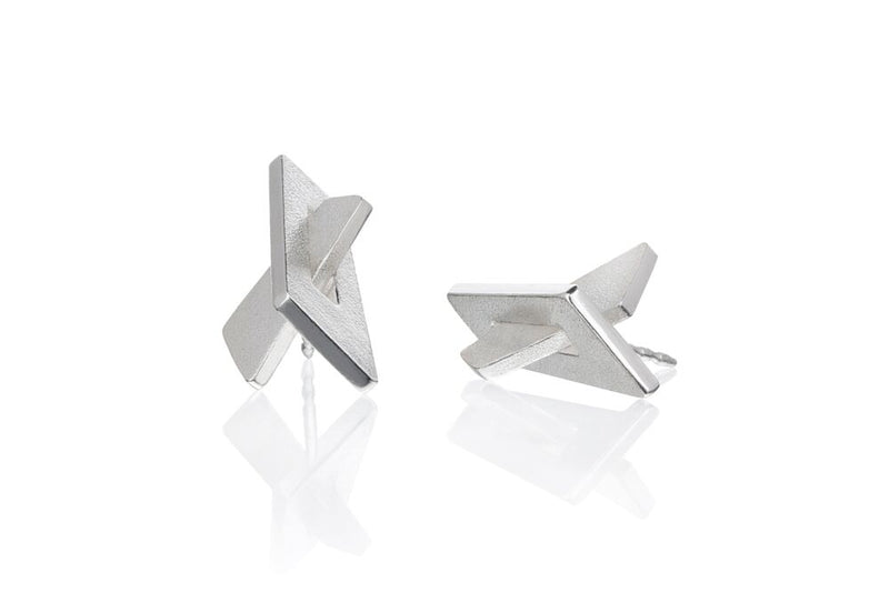 IGJ Design - Mountain Earrings - Medium Earrings - Norwegian Jewelry features artisan jewellery designers and goldsmiths from Norway.