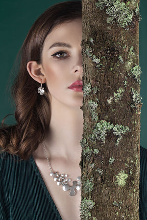 IGJ Design - Forest Earrings with Hoop Earrings - Norwegian Jewelry features artisan jewellery designers and goldsmiths from Norway.