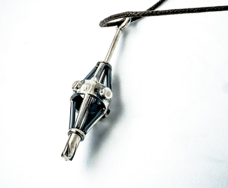 Metallstudio - Cage Spinner Gothic Pendant Necklace Pendants - Norwegian Jewelry features artisan jewellery designers and goldsmiths from Norway.
