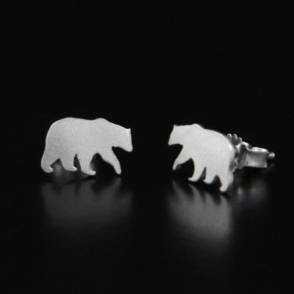 Bear Earrings by Kjersti Rennan Dahl in Trondheim, Norway - Norwegian Jewelry
