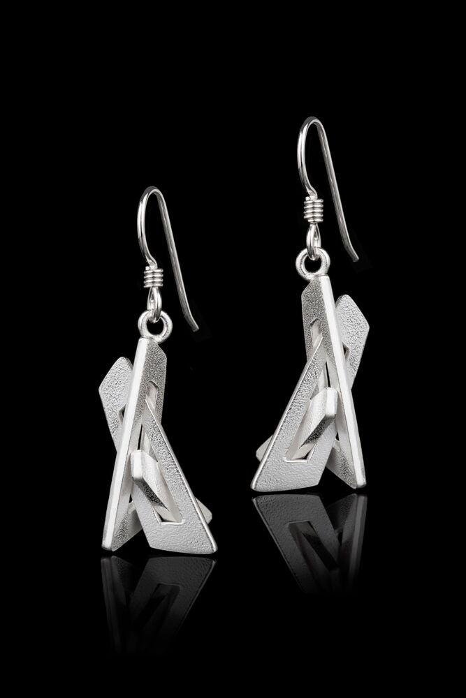IGJ Design - Mountain Peak Earrings Earrings - Norwegian Jewelry features artisan jewellery designers and goldsmiths from Norway.
