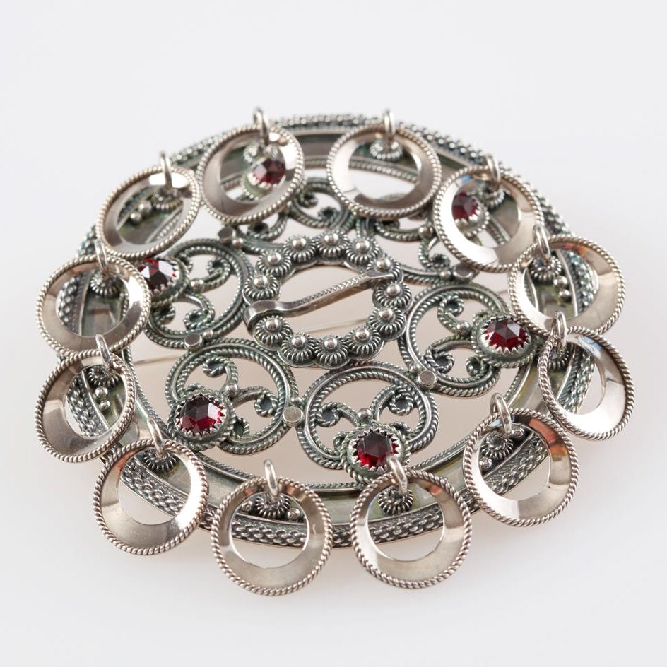 Hilde Nødtvedt - Rosesølje Brooch - Norwegian Jewelry features artisan jewellery designers and goldsmiths from Norway.