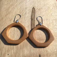 Load image into Gallery viewer, Old-growth Port Orford Cedar hoop earrings - medium
