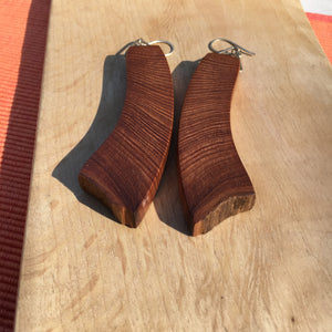 Old-growth Cedar earrings - large