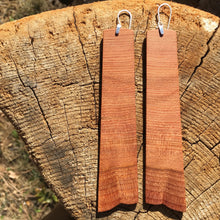 Load image into Gallery viewer, Old-growth Cedar earrings - Extra long
