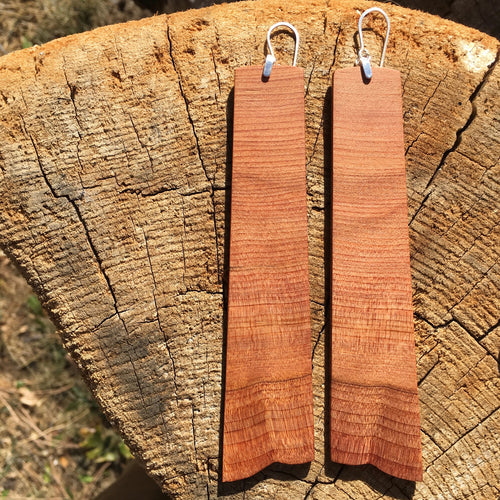 Old-growth Cedar earrings - Extra long