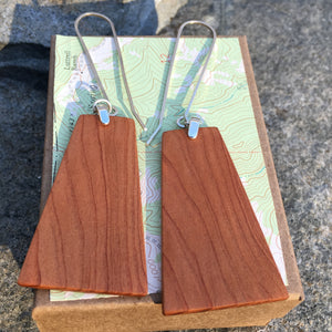 Old Growth Cedar - Matchstick earrings