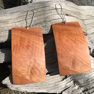 Old Growth Cedar - Chatoyance earring, Large