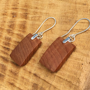 Old Growth Cedar earrings - petite