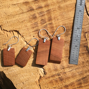 Old Growth Cedar gradient earrings - small
