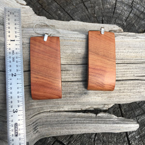 Old Growth Cedar earrings - medium