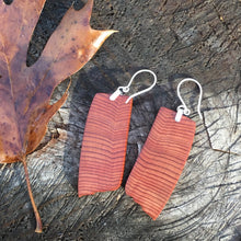 Load image into Gallery viewer, Old Growth Cedar - Growing years - small/medium earrings