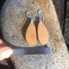 Load image into Gallery viewer, Old-growth Port Orford Cedar earrings - small/medium