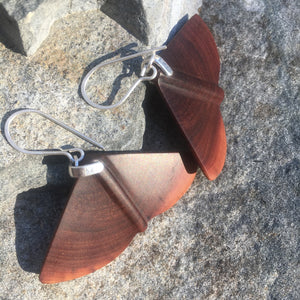 Butte Fire Manzanita - Winged earrings