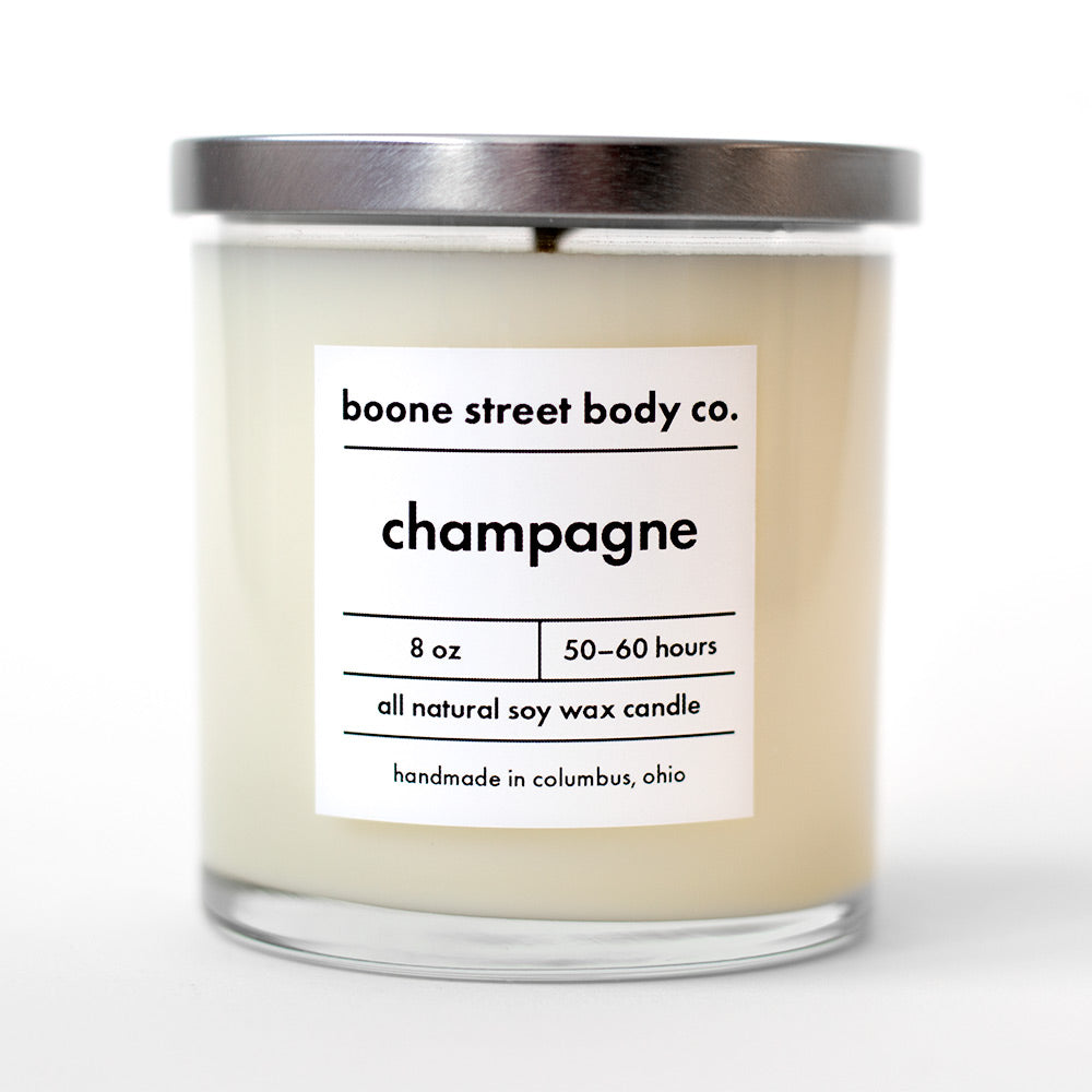 Champagne All-Natural Candle - Boone Street Body Co