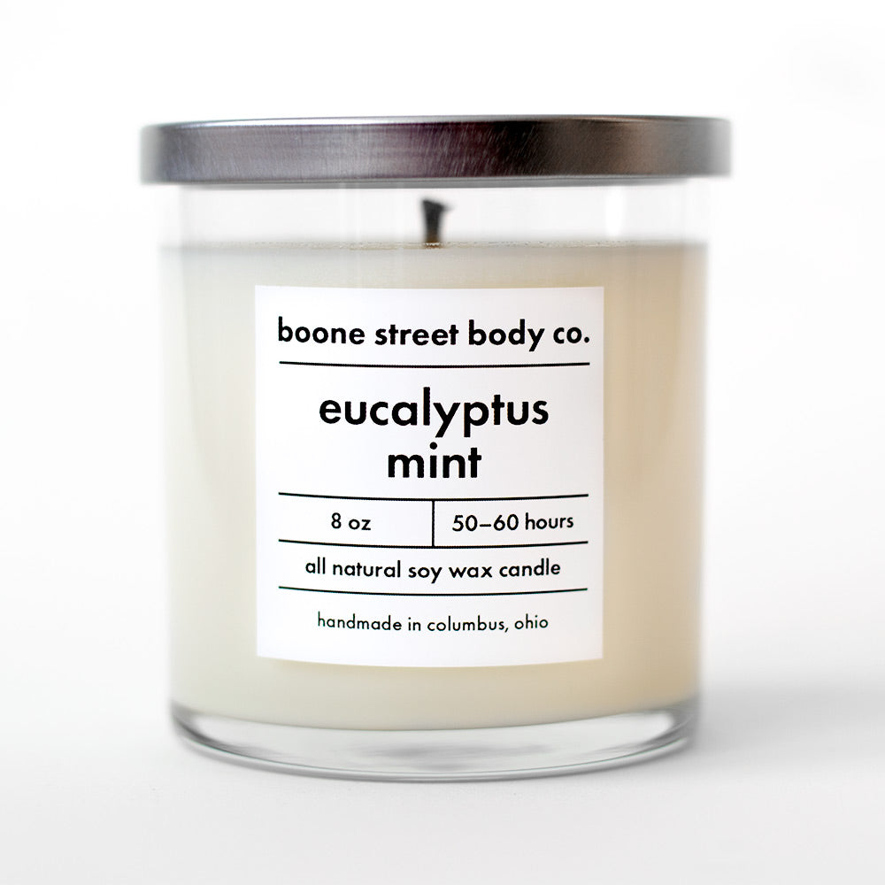 Eucalyptus Mint All-Natural Candle - Boone Street Body Co