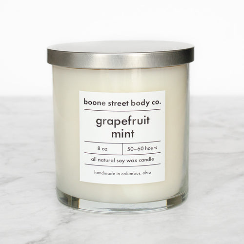 Grapefruit Mint Candle - Boone Street Body Co.