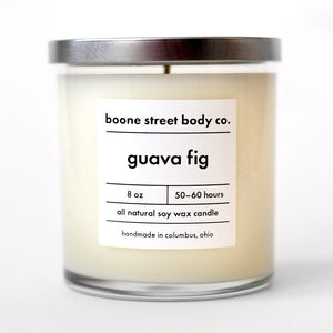 Guava Fig All-Natural Candle - Boone Street Body Co