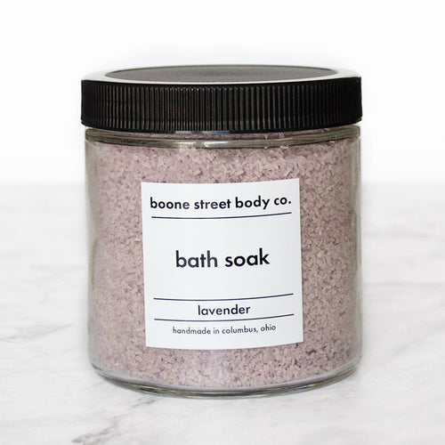 Lavender Bath Soak 16oz - Boone Street Body Co.
