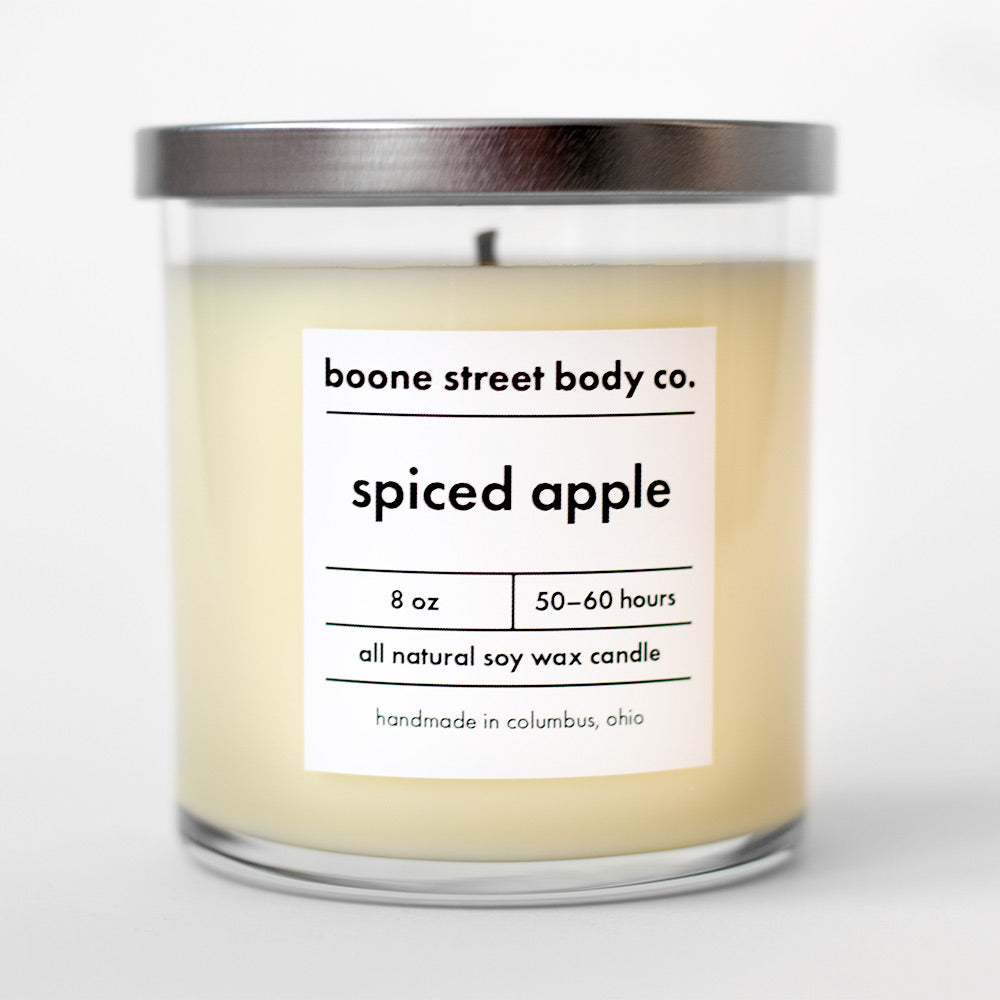 Spiced Apple All-Natural Candle - Boone Street Body Co