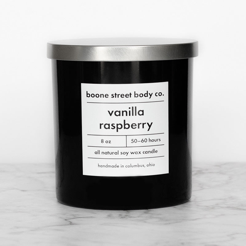 Vanilla Raspberry Candle - Boone Street Body Co.
