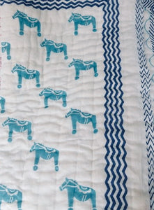 Organic Pony Quilted Mini Blankets